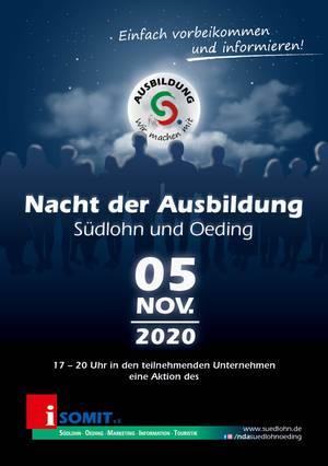 Plakat Nacht der Ausbildung 2020
